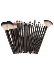 18Pcs Face Eye Makeup Brushes Kit - BLACK