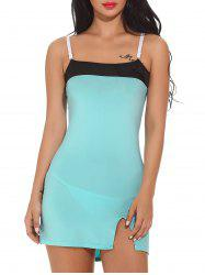 Color Block Bodycon Mini Cami Dress