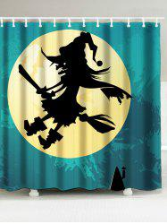 Sorcerer Printed Waterproof Halloween Shower Curtain