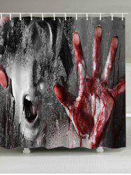 Halloween Horrible Murder Scene Pattern Waterproof Shower Curtain