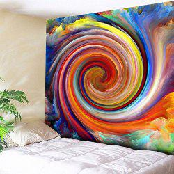 Rainbow Whirlwind Printed Wall Hanging Tapestry