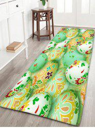 Flannel Skidproof Easter Egg Print Area Rug