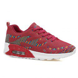 Air Cushion Embroidery Line Athletic Shoes - Rouge