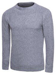 Knit Blends Crew Neck Long Sleeve Sweater