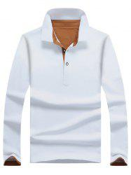 Casual Long Sleeve Half Button Polo Shirt -