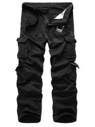 Straight Leg Flap Pockets Cargo Pants