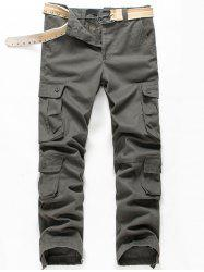 Button Flap Pockets Zip Fly Cargo Pants