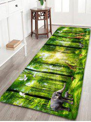 Forest Animal Printed Skidproof Flannel Rug