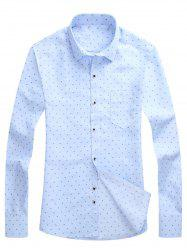Allover Printed Chest Pocket Long Sleeve Shirt