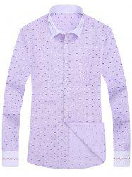 Allover Print Pocket Long Sleeve Shirt