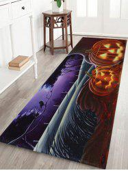 Pumpkin Halloween Pattern Anti-skid Water Absorption Area Rug - COLORMIX