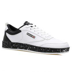 Paint Splatter Sole Low Top Sneakers