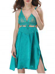 Cut Out Backless Satin Cami Dress