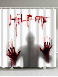 Gothic Help Me Shadow Shower Curtain For Halloween