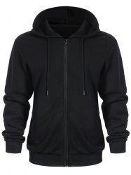 Zip Up Pockets Men Hoodie