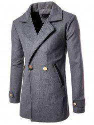 Double Breasted Wool Blend Coat -