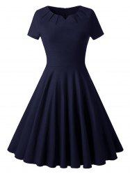 Ruched Vintage Skater Party Dress -