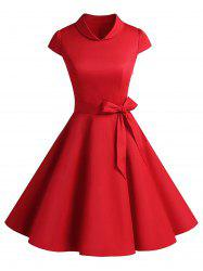 Vintage Belt Party Swing Pin Up Dress -