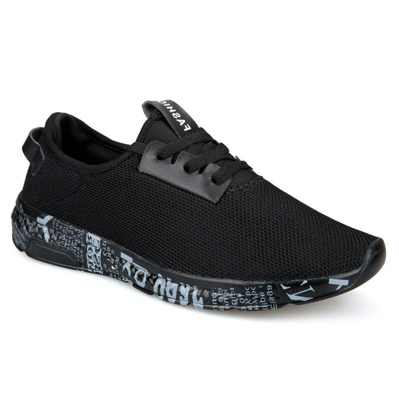 Discount Letter Print Sole Mesh Athletic Shoes