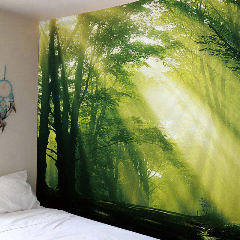 Online Sunlight Forest Avenue Print Tapestry Wall Hanging Art Decoration