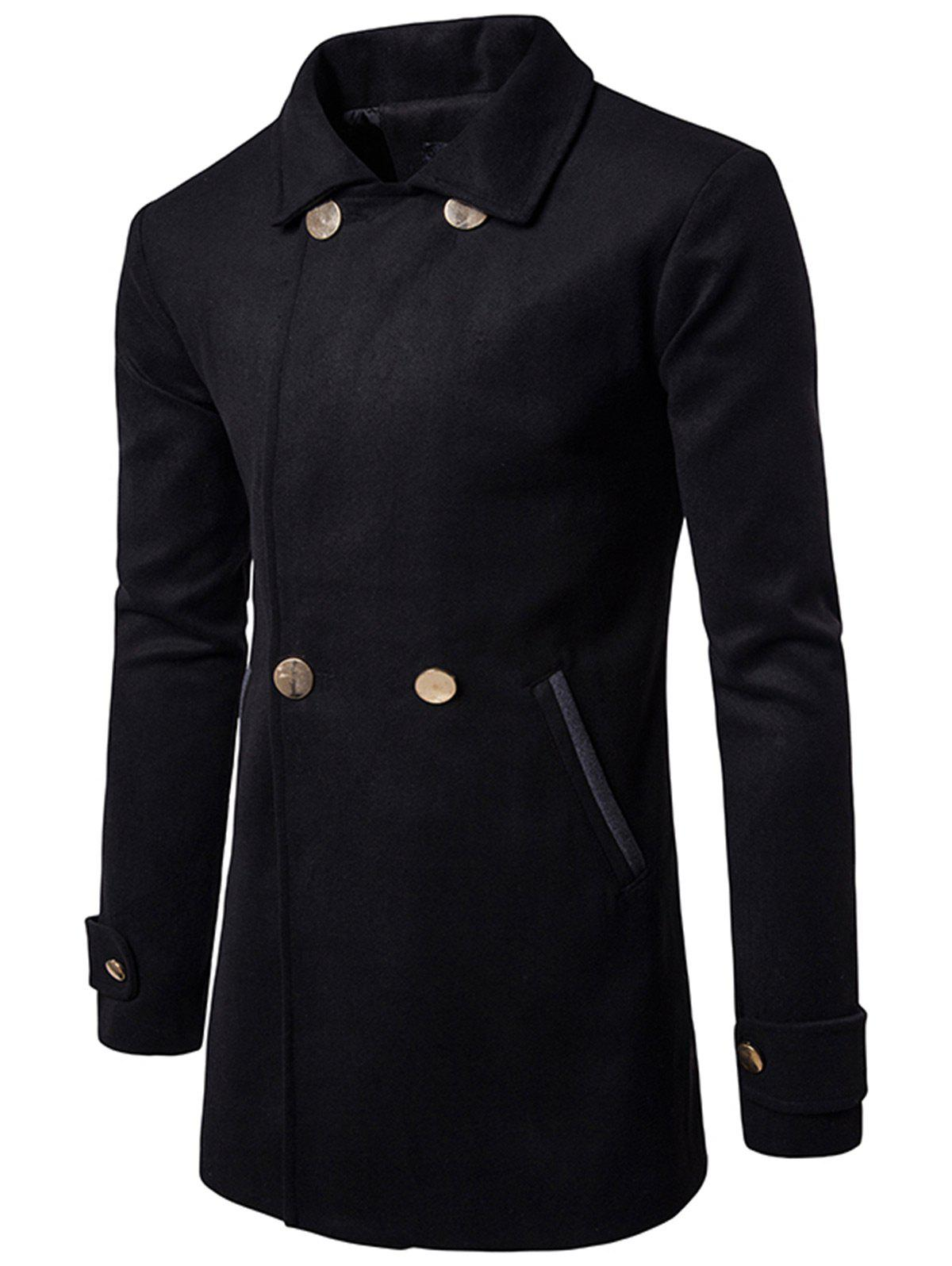 Best Double Breasted Wool Blend Coat