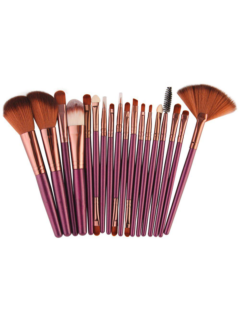 18Pcs Face Eye Makeup Brushes KitBEAUTY<br><br>Color: BROWNISH PURPLE; Category: Makeup Brushes Set; Brush Hair Material: Synthetic Hair; Features: Professional; Season: Fall,Spring,Summer,Winter; Weight: 0.1300kg; Package Contents: 18 x Brushes(Pcs);