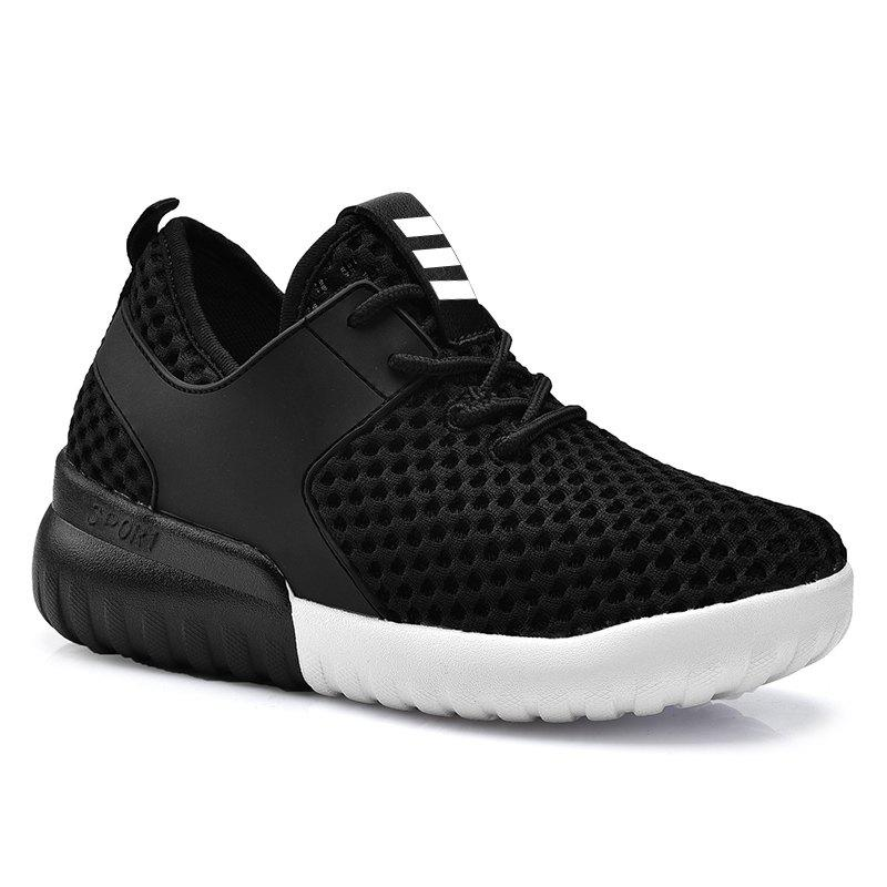 Affordable Breathable Mesh Faux Leather Insert Athletic Shoes