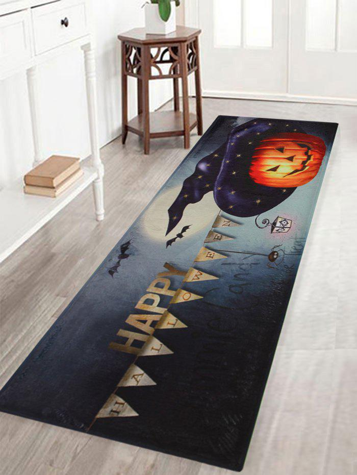 Outfit Happy Halloween Pumpkin Pattern Anti-skid Water Absorption Area Rug