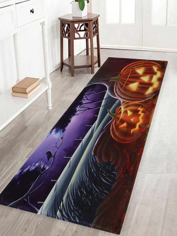 Hot Pumpkin Halloween Pattern Anti-skid Water Absorption Area Rug
