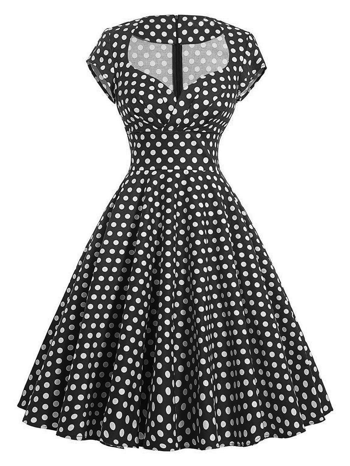 Hot Vintage Polka Dot Swing Pin Up Dress