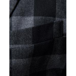 Notch Lapel One-button Plaid Casual Blazer - GRAY 2XL