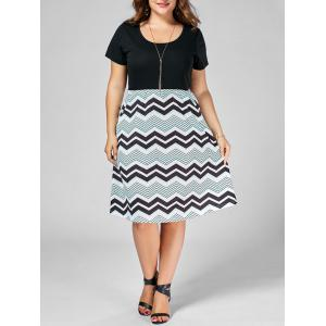 Plus Size Zig Zag A Line Dress