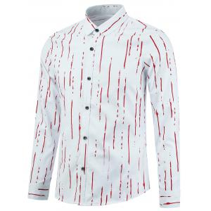 Long Sleeve Paint Stripe Shirt