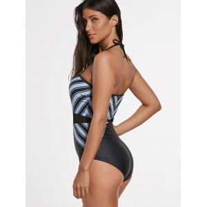 One Piece Striped Padded Swimsuit -
