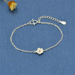 Rhinestone Metal Flower Cute Bracelet