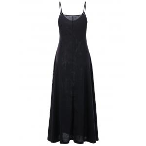 Monochrome Maxi Slip Dress - Noir M