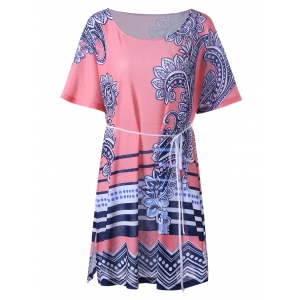 Paisley Flapper Tee Dress