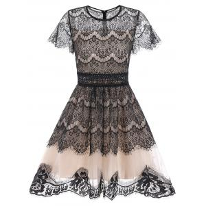Lace A Line Waisted Dress