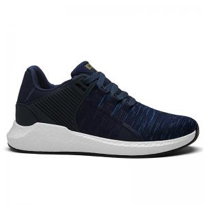 Breathable Pinstripe Athletic Shoes - Deep Blue - 40