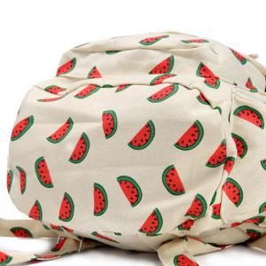 Canvas Fruit Printed Backpack -