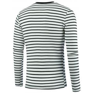 Chinese Character Embroidery Stripe Tee - OFF-WHITE 3XL