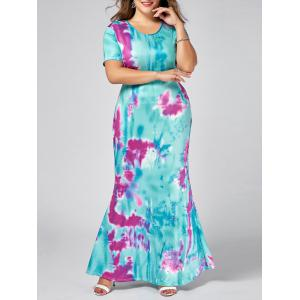 Plus Size Sheath Maxi Ombre Dress