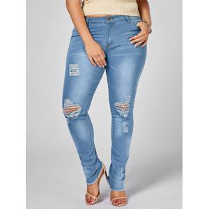 Light Wash Plus Size Ripped Jeans