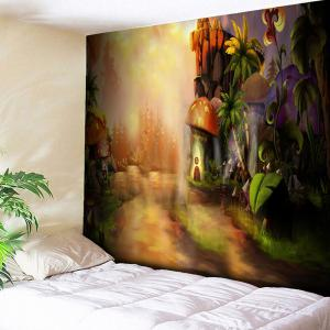 Wall Hanging Cartoon Forest Pattern Tapestry