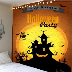 Home Decor Halloween Party Horrible Castle Waterproof Tapestry