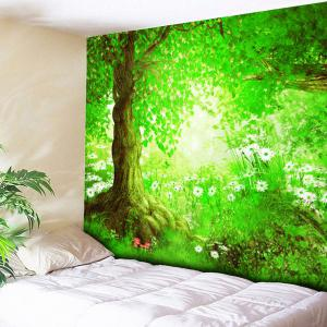 Wall Hanging Flower Forest Pattern Tapestry