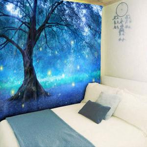Life Tree Forest Pattern Wall Hanging Tapestry -