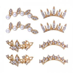 Rhinestone Faux Pearl Butterfly Cartilage Earring Set