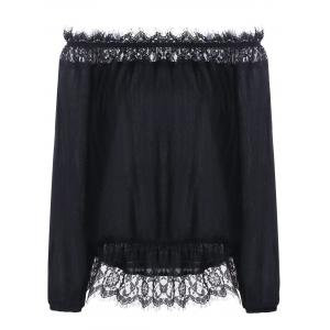 Off The Shoulder Lace Panel Bohemian Blouse