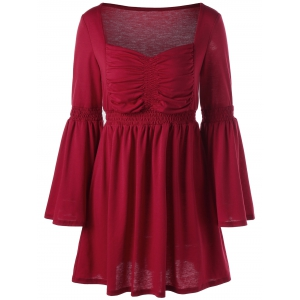 Sweetheart Flare Sleeve Vintage Dress